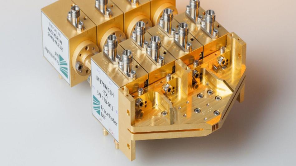 Das Fraunhofer IAF fokussiert sich im Projekt Terranova auf die Integration von Funkmodulen auf Chipebene.