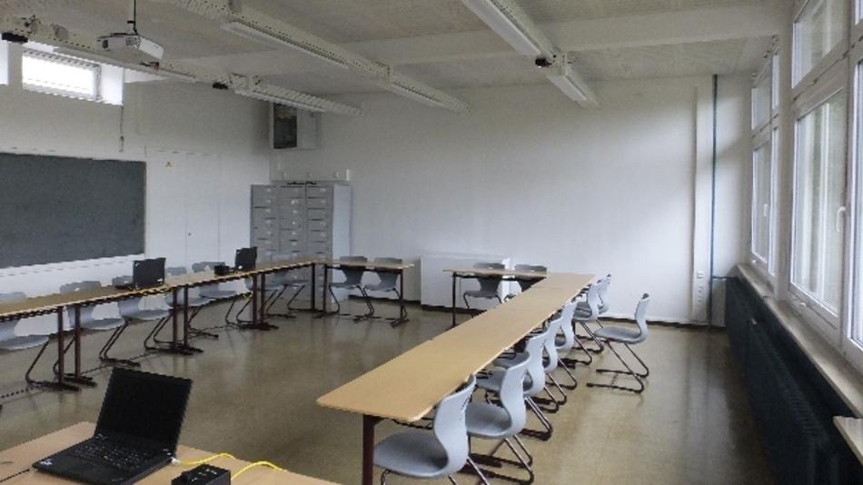 Der Schulraum der Zukunft: Über die Leuchten könnten die Schüler ins Netz gehen.