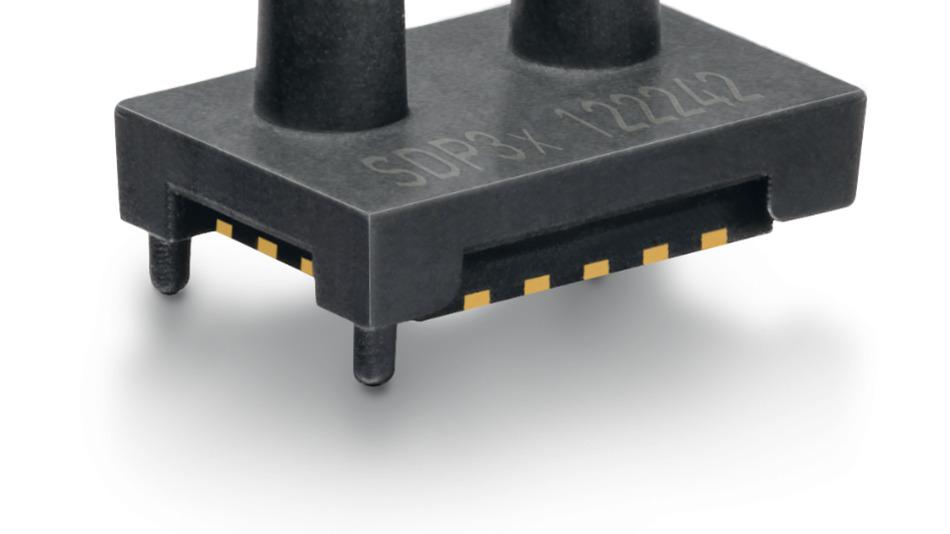 Bild 3. Der weltweit kleinste Differenzdrucksensor: Der SDP3x von Sensirion.