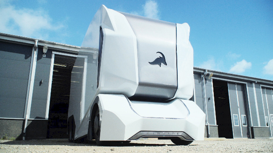 Selbstfahrender E-Transporter T-Pod von Einride.