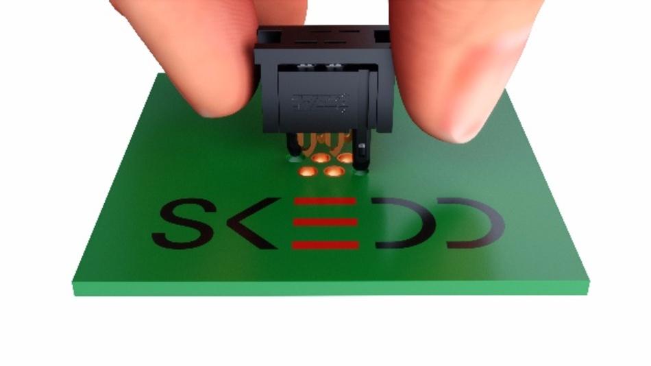 Die SKEDD-Technik bietet eine Alternative für die Kontaktierung von Steckverbinder und Bauteilen an die Leiterplatte.