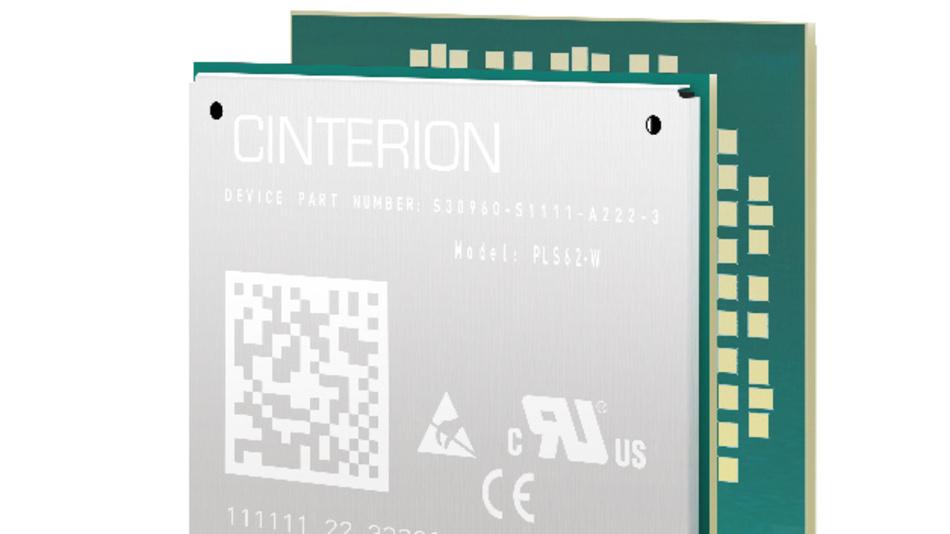 """Trotz seiner Kompaktheit bietet das industrietaugliche IoT-Modul """"Cinterion PLS62-W"""" von Gemalto globale Connectivity in zwölf LTE-Bändern."""