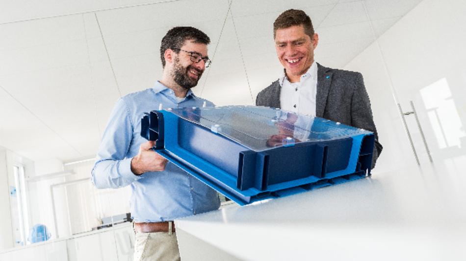 Thyssenkrupp präsentierte auf der Blechexpo das Konzept eines Batteriegehäuses für Elektroautos.