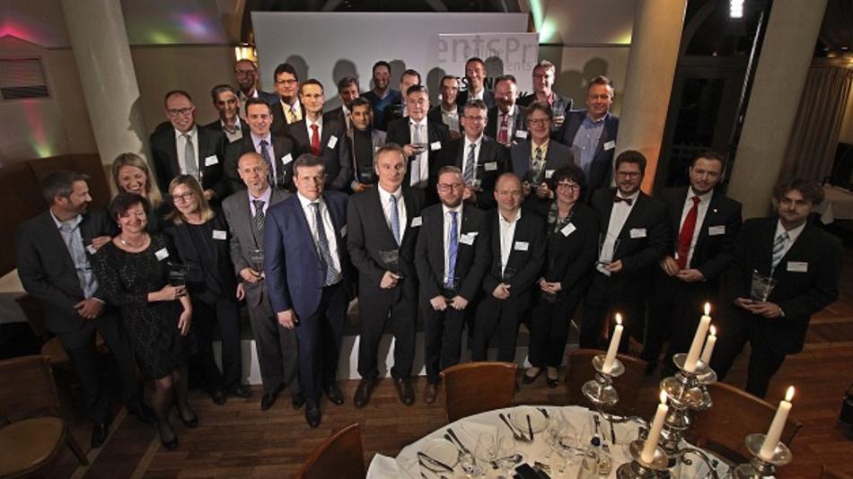 """Alle Gewinner des """"Innovator des Jahres 2017"""", der von der DESIGN&ELEKTRONIK verliehen wurde."""