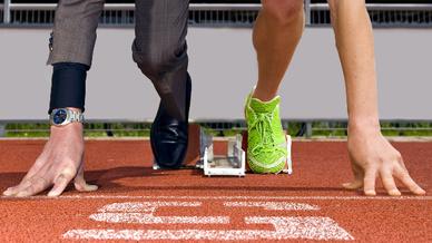 Sportler und Businessman