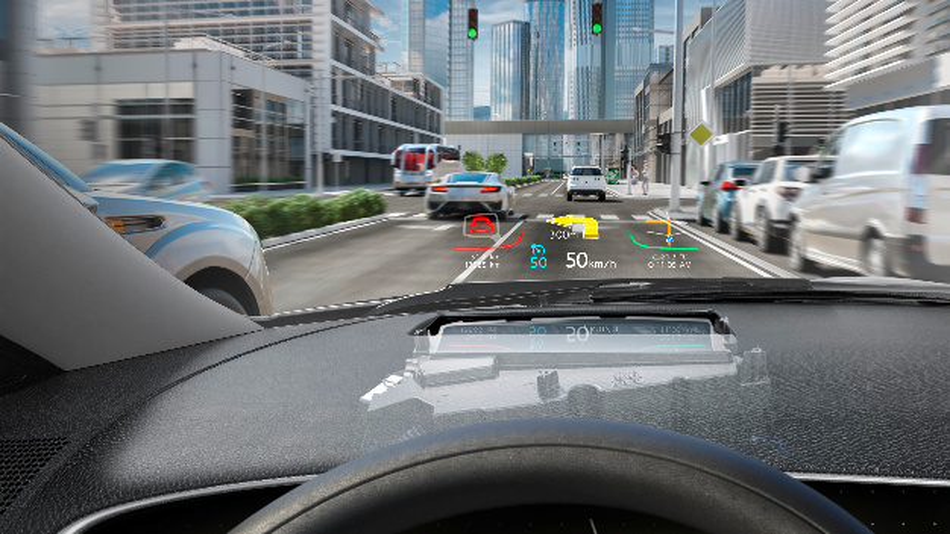 Head-Up-Display von Continental mit Digital-Micromirror-Device (DMD) Technik.
