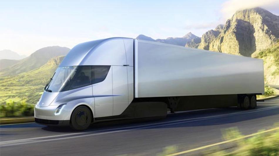 Der Tesla Semi soll eine Reichweite von 800 km aufweisen.