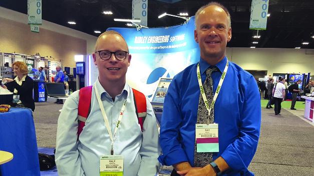 Unser Power-Spezialist Ralf Higgelke traf sich mit Dr. Ray Ridley (rechts) auf der APEC 2017.