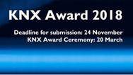 Nur noch wenige Tage ist die Tür zur Teilnahme am »KNX Award 2018« offen.