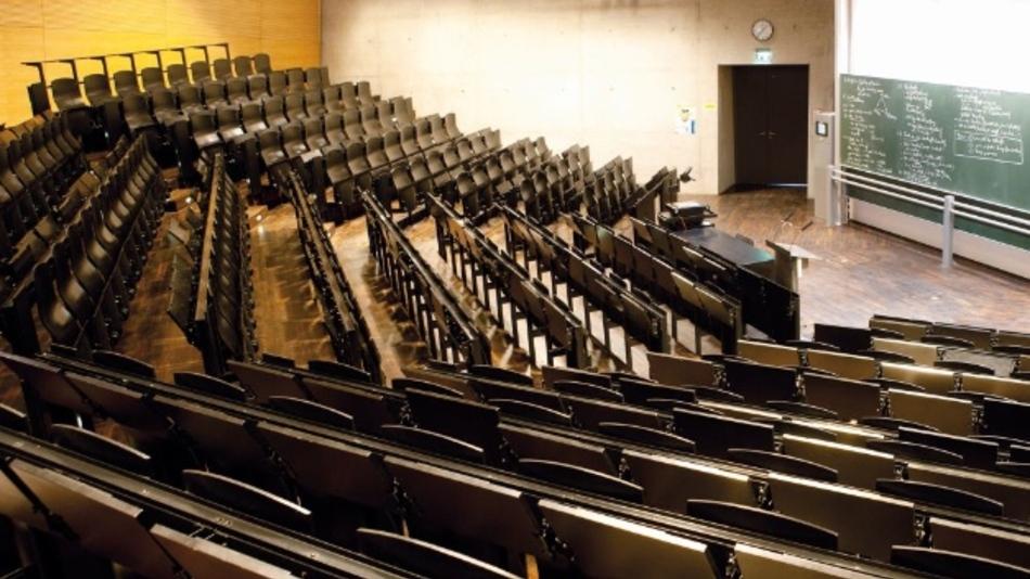 Ein Blick in den Hörsaal der Hochschule München. Die Studenten sind national gefragt, international ist die Hochschule nicht sehr bekannt.