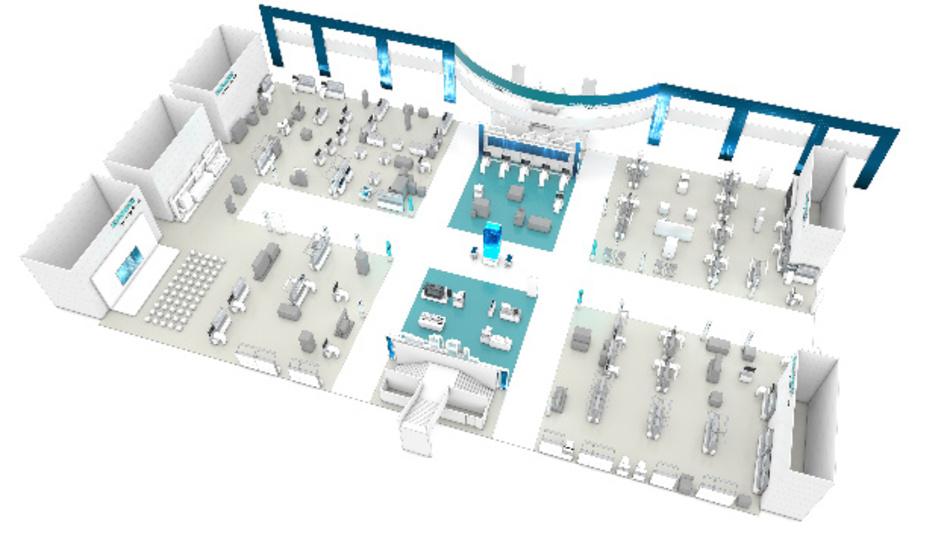 Auch auf der SPS IPC Drives 2017 belegt Siemens die gesamte Halle 11.