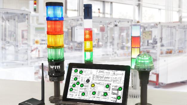 Auch Signaltechnik will auf Industrie 4.0 vorbereitet sein – im Falle der Systeme von Werma unter anderem durch Funk- oder drahtgebundene Vernetzung.