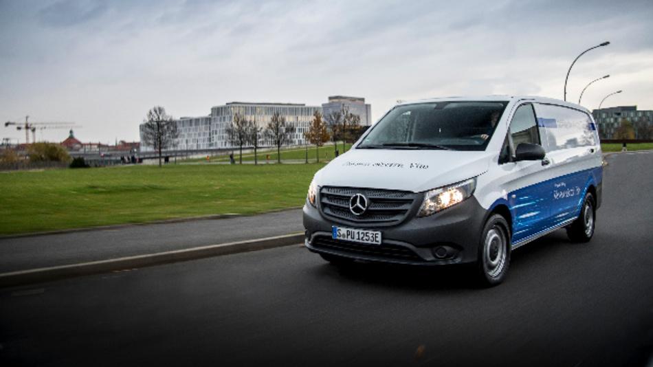 Beginn der Elektrifizierung der Transportermodelle bei Daimler: eVito.