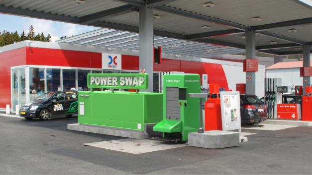 Austauscheinheit von Powerswap an einer bestehenden Tankstelle.