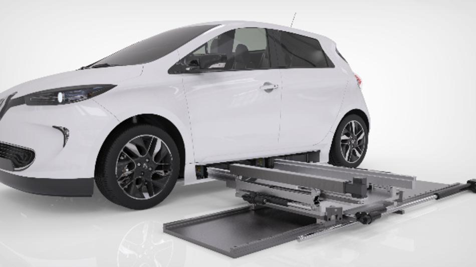 Der Batteriewechsel erfolgt bei Powerswap von der Fahrzeugseite.