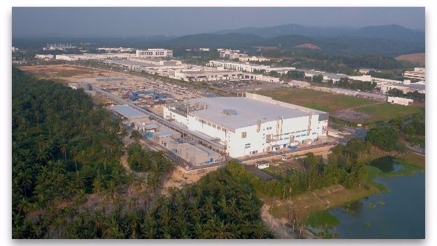 Außenansicht von Osrams neuer LED-Chipfabrik in Kulim, Malaysia während der Bauphase