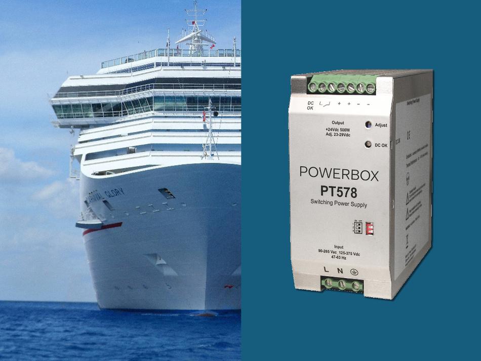 Die Stromversorgung PT578 von Powerbox erfüllt die Anforderungen, die aktuele Schifffahrtsanwendungen stellen.