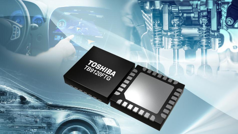 Schrittmotortreiber-IC TB9120FTG von Toshiba.