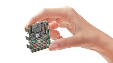 Bis zu 10.000 W Nennleistung liefert der Miniatur-Servoantrieb »Double-Gold-Twitter« von Elmo Motion Control.