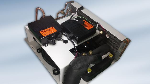 Bei einer Wechselspannung von 230 V nimmt mLC-KIT 1600 von AMS Technologies je nach Kühlleistung zwischen 20 und 440 W auf.