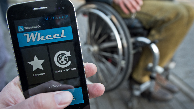 Mit der App »Wheelmap« können rollstuhlgerechte Routen und Treffpunkte gefunden werden.