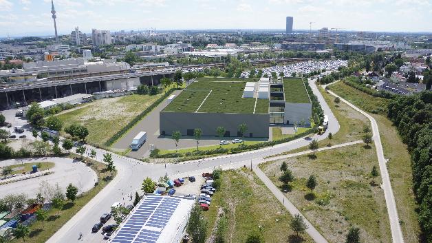 Visualisierung des zukünftigen Kompetenzzentrums Batteriezelle von BMW.