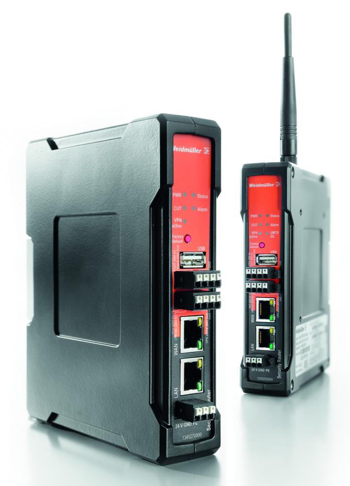 Bild 2: Industrial Ethernet Router gewährleistet die volle Systemintegrität der jeweiligen Fernwartung.