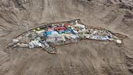 Schweinswal-Kunstwerk aus Plastik in Timmendorfer Strand
