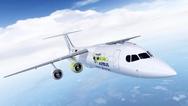 Entwurf des Hybrid-Testflugzeugs Airbus e-FanX.