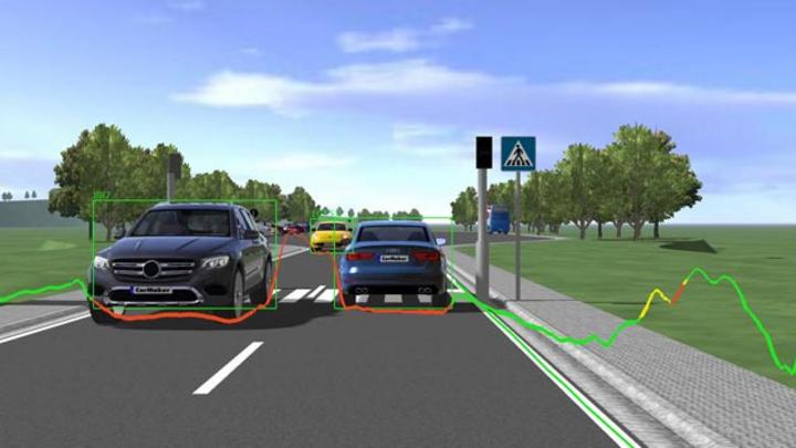 Algorithmen, die auf neuronalen Netzen basieren, lernen, relevante Informationen wie andere Fahrzeuge und Fahrbahnmarkierungen in Echtzeit zu erkennen.