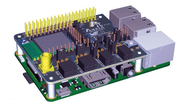 Das Aufsteck-Board von Amber wireless eignet sich für alle Raspberry-Pi-Modelle, die über ein 40-Pin-Layout verfügen.