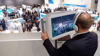 Siemens-Halle auf der SPS IPC Drives 2017.