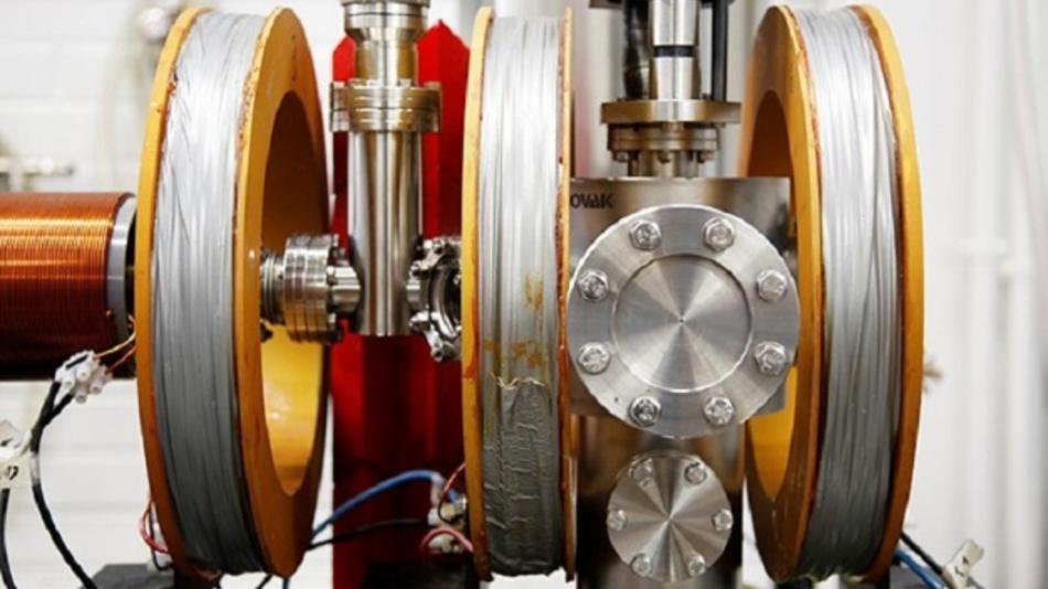 Probenkammer des Positronbeschleunigers.