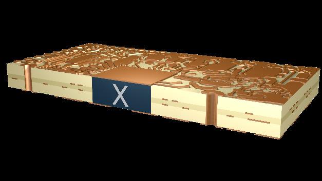 X-in-Board ermöglicht die Kombination von verschiedenen Technologien und Materialien innerhalb einer gängigen Leiterplatte, wie einem Standard-FR4-Board oder Multilayern mit Vias und PTHs (Durchkontaktierungen, Plated Through Holes).