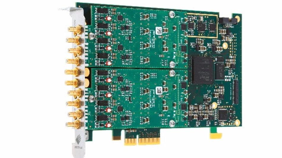 Nur 167 mm lang – und damit halb so lang wie herkömmliche PCIe-Karten: Die neue PCIe-Digitizer-Plattform von Spectrum Instrumentation