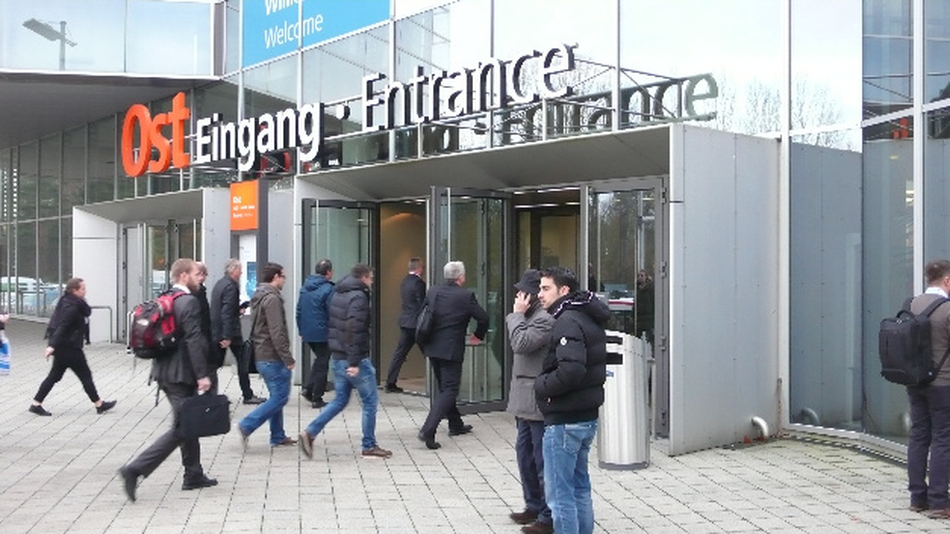 Der Eingang Ost des Messezentrums Nürnberg während der SPS IPC Drives 2017
