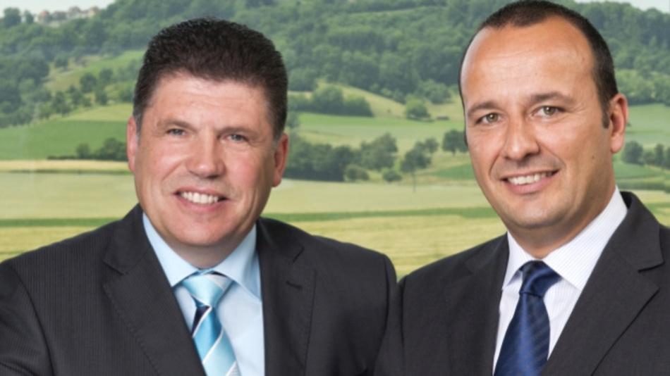 CEOs von Würth Elektronik eiSos, Oliver Konz (links) und Thomas Schrott