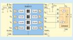 Bild 2. Signalisolierte 50-Mbit/s-RS-485-Lösung. Gezeigt ist ein vereinfachtes Diagramm, das heißt nicht alle Verbindungen sind dargestellt.