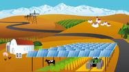 Die APV-Anlage ermöglicht neben Eigenverbrauch auch die Einspeisung des Stroms.