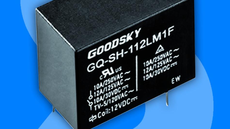 Die Spulenspannung der Relaisfamilie GQ-SS liegt zwischen 3 und 60 VDC mit einer Spulenempfindlichkeit von 200 mW.