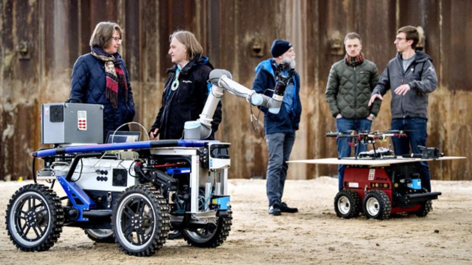 Autonome Systeme wurden bei der Einweihungsfeier der Technischen Universität Dänemark demonstriert.