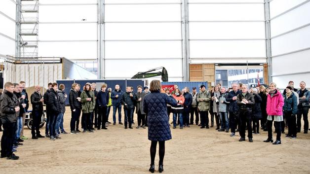 Frau Katrine Krogh Andersen (DUT) bei der Eröffnung des neuen Testareals.