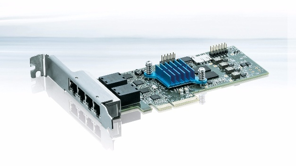 TSN-Netzwerkkarte PCIE-0400-TSN mit vier Gigabit-Ethernet-Ports