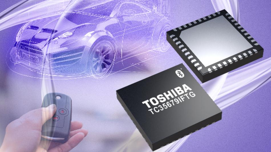 Mikroprozessor für die Bluetooth Kommunikation von Toshiba.