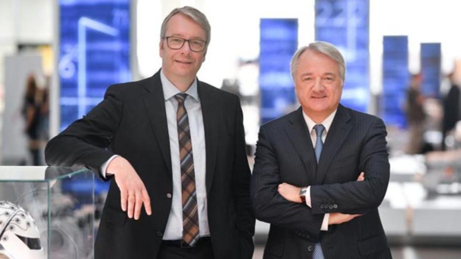 Dr. Stefan Sommer (links) verlässt ZF, Finanzvorstand Dr. Konstantin Sauer führt den Konzern als Vorstandsvorsitzender bis zur Berufung eines Nachfolgers.
