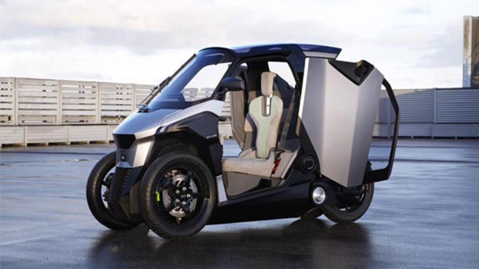 Das elektrische Leichtfahrzeug mit dreirädriger Architektur, das im Rahmen des europäischen EU-Live-Konsortiums entwickelt wurde, ist für innerstädtische und stadtnahe Fahrten ausgelegt und verfügt über einen emissionsfreien Modus für den Stadtverkehr.
