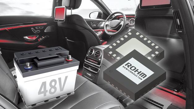 Durch ROHMs Nano-Pulse-Control-Technologie erreicht der BD9V100MUF-C das industrieweit größte Abwärtswandlungsverhältnis von 24:1 zwischen Eingangs- und Ausgangsspannung.
