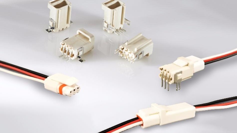 Die Wire-to-Board-Steckverbinder der Mini SlimSeal-Serie von TE Connectivity für Außenbeleuchtung und andere Anwendungen mit hoher Luftfeuchtigkeit.