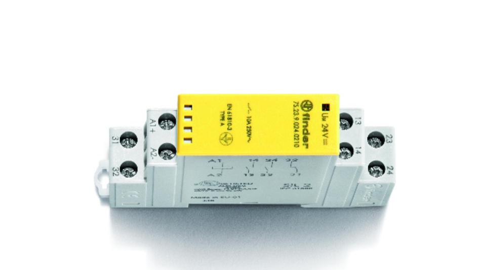 Die zwei-, vier und sechspoligen Relais der Serie 7S von Finder sind auch in Varianten mit AC-Spannungen von 110 und 230 V lieferbar.