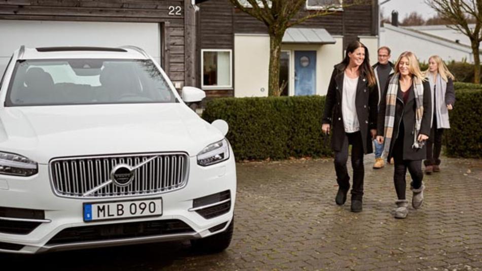 Familie Hain war die erste Familie, die Anfang 2017 für das Drive-Me-Projekt von Volvo als Testpersonen ausgewählt wurden.